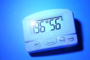 Close up of a Digital timer clock