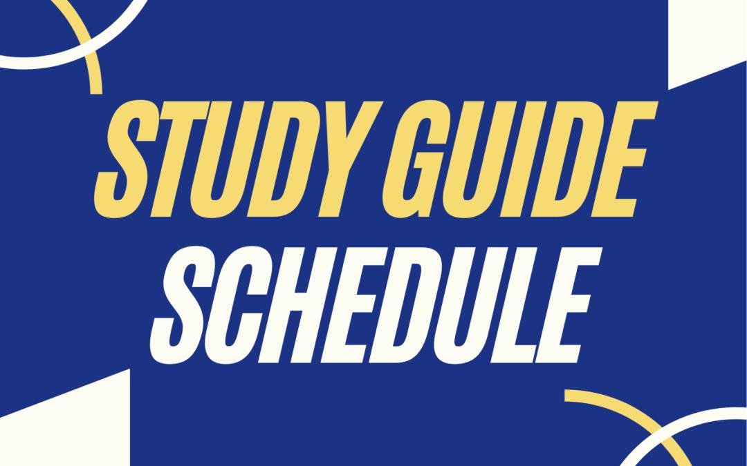 Study Guide Schedule